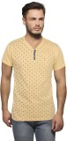 Getzen Printed Men's Fashion Neck Yellow...