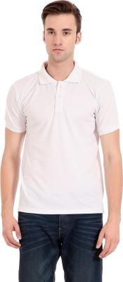 Zeug Solid Men's Polo Neck White T-Shirt