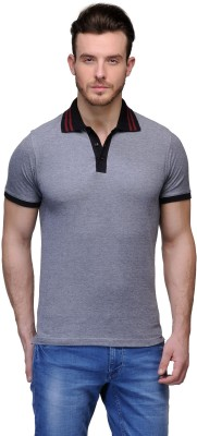 buckland Solid Men's Polo Black T-Shirt