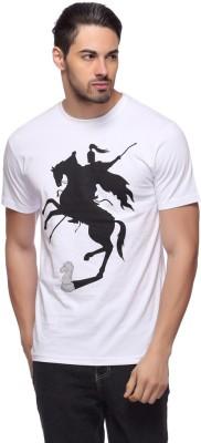 LLO Fashions Printed Men,s Round Neck White T-Shirt