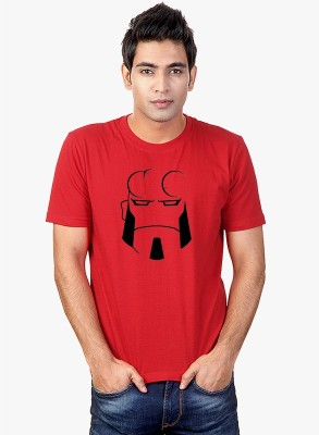 Sharq Printed, Graphic Print Men's Round Neck Red T-Shirt