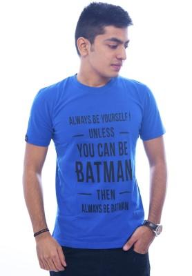 Urban Flux Printed Men's Round Neck Blue T-Shirt