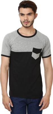 Bajo Solid Men's Fashion Neck Grey, Black T-Shirt