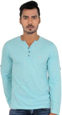 Killer Solid Men's Henley Light Blue T-Shirt