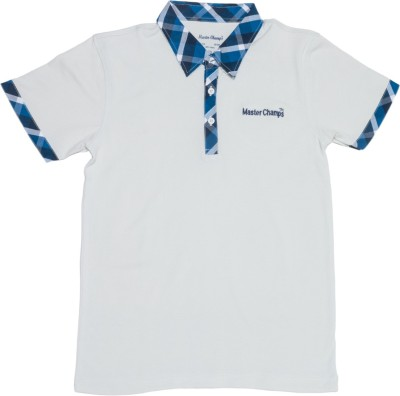 Master Champs Solid Boy's Polo Neck T-Shirt