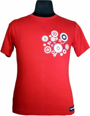 Stylobby Printed Men's Round Neck Red T-Shirt