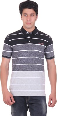 Montreal Striped Men's Polo Black T-Shirt