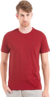 Izod Solid Men's Round Neck Red T-Shirt