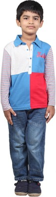 Karrot by Shoppers Stop Printed, Self Design Boy's Round Neck T-Shirt