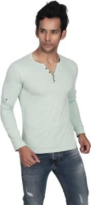 Killer Solid Men's Henley Grey T-Shirt