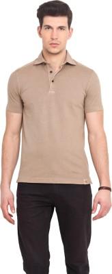 Smokestack Solid Men's Polo Brown T-Shirt