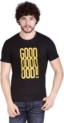 ADAMO ESSENTIALS Graphic Print Men's Round Neck Black T-Shirt