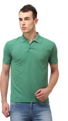 Lime Fashion Solid Men's Polo Green T-Shirt