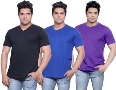 Indiweaves Solid Men's Fashion Neck T-Shirt