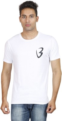Being Odia Solid Men's Round Neck White T-Shirt