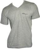 Lakomfort Solid Men's V-neck Grey T-Shir...