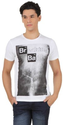 Breaking Bad Printed Men's Round Neck White, Black T-Shirt