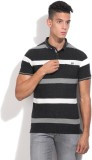 Fort Collins Striped Men's Polo Neck Whi...
