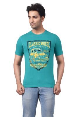 Regnum Printed Men's Round Neck Green T-Shirt