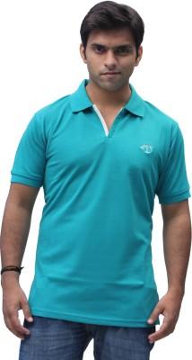 Romano Solid Men's Polo Blue T-Shirt