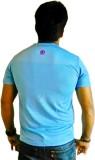LetsFlaunt Printed Men's Round Neck Blue...