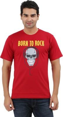UV2 Printed Men's Round Neck Red T-Shirt