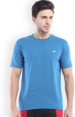 2go Solid Men's Round Neck Blue T-Shirt