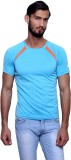 T10 Sports Solid Men's Round Neck Blue T...