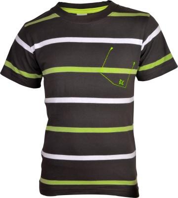 Bio Kid Striped Boy's Round Neck Multicolor T-Shirt