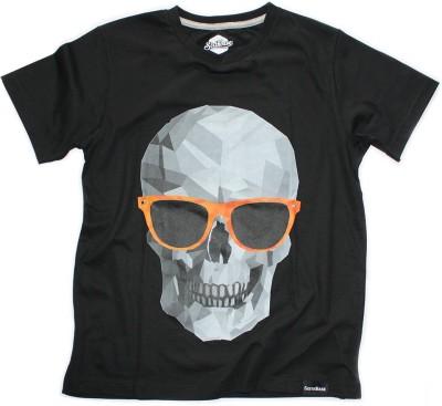 Sixthbase Printed Men's Round Neck Black T-Shirt