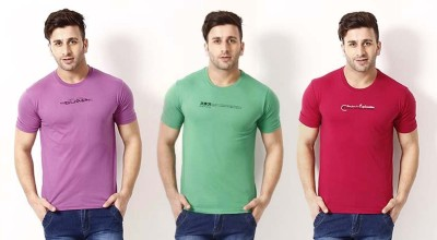 Romano Solid Men's Round Neck Multicolor T-Shirt
