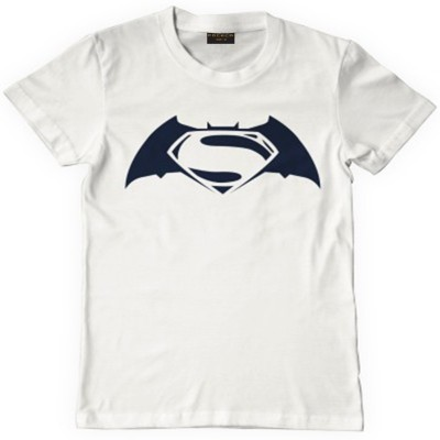 FOCECO Printed Men's Round Neck White T-Shirt