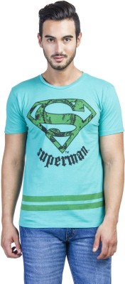Superman Printed Men's Round Neck Green T-Shirt