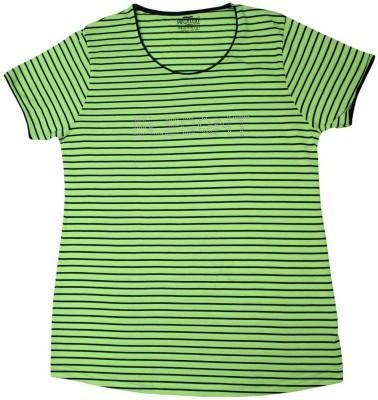 Body Care Printed Women's Round Neck Multicolor T-Shirt