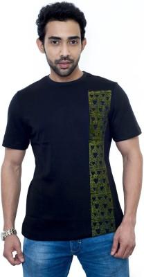 Fabnavitas Printed Men's Round Neck Black T-Shirt