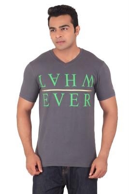 Radbone Printed Men's V-neck Grey T-Shirt