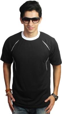 EPG Solid Men's Round Neck Black T-Shirt