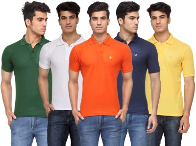 Rico Sordi Solid Men's Polo Neck Multicolor T-Shirt