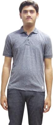 Rig Solid Men's Round Neck Grey T-Shirt