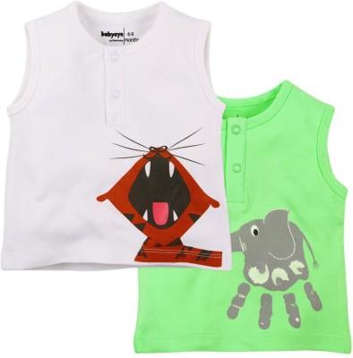 Babyoye Premium Printed Baby Boy,s Round Neck Multicolor T-Shirt