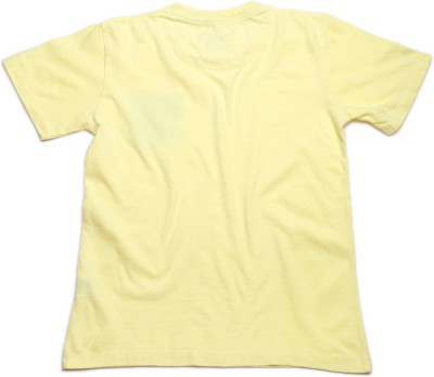 WROGN Solid Boy's Round Neck Yellow T-Shirt