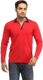 Stylistry Printed Men's Polo Neck Red T-...
