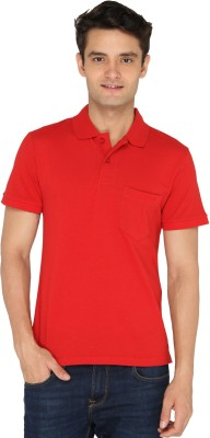 Chromozome Solid Men's Polo Neck Red T-Shirt