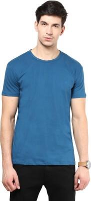 Izinc Solid Men's Round Neck Light Blue T-Shirt
