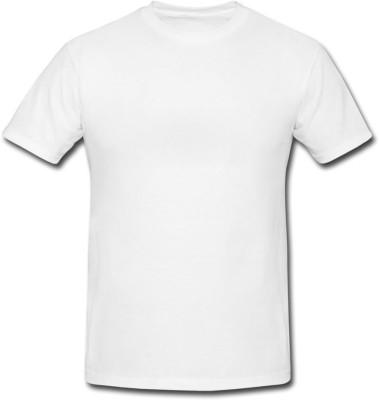 ADK Solid Men's Round Neck White T-Shirt