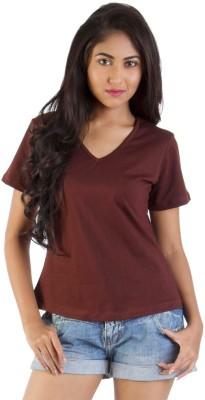 Vea Kupia Solid Women's V-neck T-Shirt