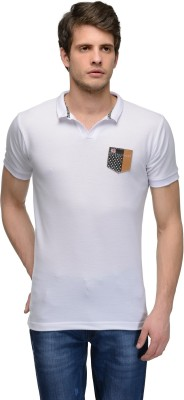 Canary London Solid Men's Polo White T-Shirt