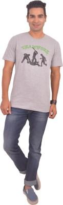 Sonic Tees Graphic Print Men's Round Neck Grey T-Shirt