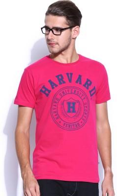 Harvard Printed Men's Round Neck T-Shirt