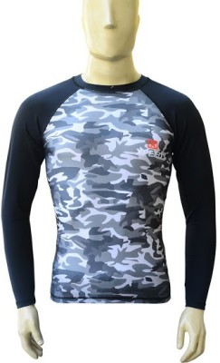 Xpeed Military Camouflage Men's Round Neck Black, White, Grey T-Shirt